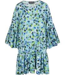 gianluca capannolo blue pattern short dress