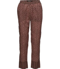 allover printed pants casual byxor brun scotch & soda
