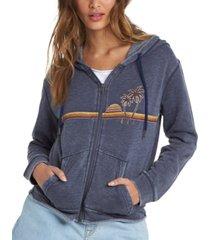 roxy juniors' go for it zip-up hoodie