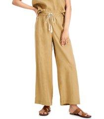 marella fase linen relaxed drawstring pants