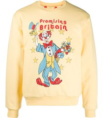 martine rose reversible illustrated sweatshirt - yellow