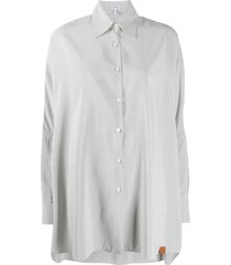 loewe vertical stripe pattern shirt - white