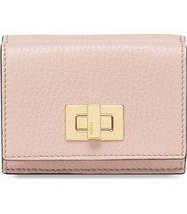 fendi textured bifold wallet - pink