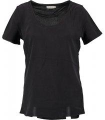 calvin klein zwart zijden shirt deels open rug