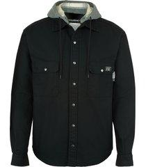 wolverine men's fr canvas jacket black, size l