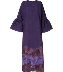 bambah camelia gradient print dress - purple