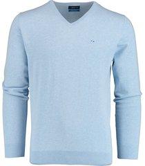 bos bright blue vince v-neck pullover flat kn 21105vi01bo/210 l.blue