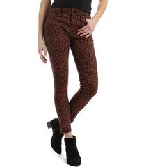 women's mavi jeans tess high waist ankle super skinny jeans, size 31 x 27 - brown