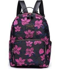 bolsa florida rosa feminina mochila escolar cavalera estampada