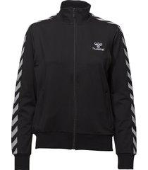 hmlnelly zip jacket sweat-shirt tröja svart hummel