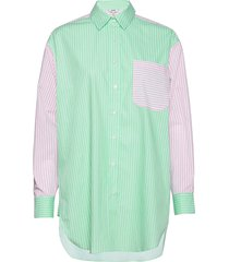 brisa overhemd met lange mouwen groen mbym