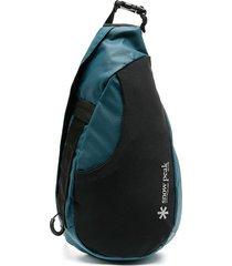 snow peak single-strap backpack - blue