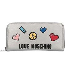 love moschino love pixel portafoglio