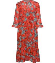 nuaalia dress knälång klänning röd nümph