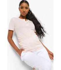 zwangerschap borstvoeding t-shirt met knopen, pink