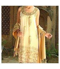 silk shawl, 'golden nights' (india)