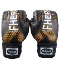 luva boxe muay thai fheras new top iron cobre 14 oz .