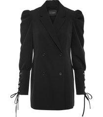 blazer lungo con maniche a sbuffo (nero) - bodyflirt