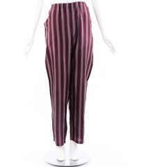 burberry purple striped silk pants purple sz: l