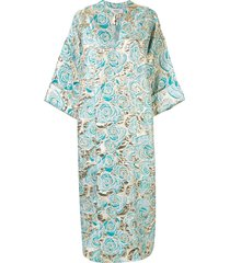 bambah zeynab petunia kaftan dress - black