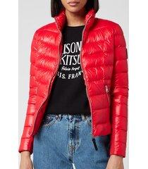 mackage women's reema light padded jacket - red - l