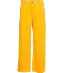 5 pocket wide leg wijde broek geel lee jeans