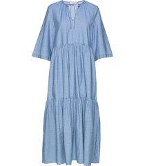 slfjoy 3/4 ankle dress w jurk knielengte blauw selected femme