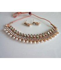 indian bollywood traditional kundan bridal choker wedding fashion jewelry set