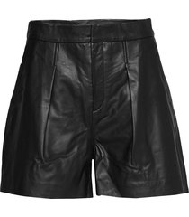 kathiiw shorts shorts leather shorts svart inwear