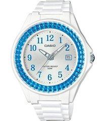 reloj analógico blanco casio