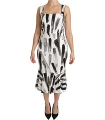 printed sheath midi dress
