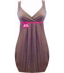 vestido corto con recogido sarab /cie-02r -gris