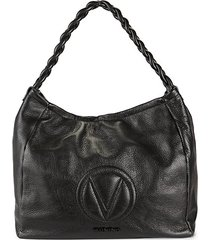 braided-strap leather hobo bag