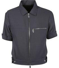 dior homme crop zipped shirt