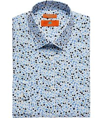 egara orange extreme slim fit dress shirt blue floral