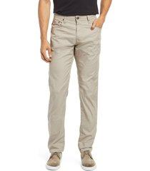 men's ag tellis slim fit cool comfort performance twill pants, size 35 x 34 - beige