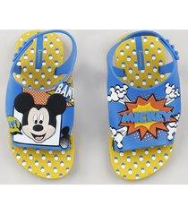 sandália infantil ipanema mickey mouse amarela