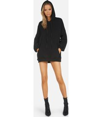 brayden core hoodie dress - black l