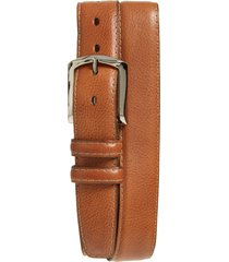 men's big & tall torino belts glazed leather belt, size 46 - brandy