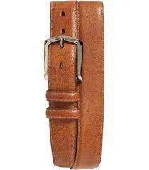 men's big & tall torino belts glazed leather belt, size 46 - brandy