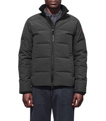 men's canada goose 'woolford' slim fit down bomber jacket, size small - grey