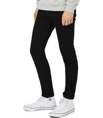 men's topman stretch skinny fit jeans, size 34 x 30 - black
