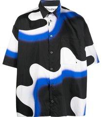 etudes swirl-print shirt - black