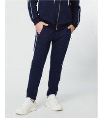 pantalón azul garçon garcía logoband