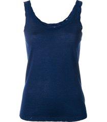 barrie scoop neck vest top - blue