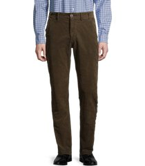 barbour men's neuston regular-fit stretch corduroy pants - dark olive - size 40