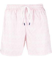 fedeli striped drawstring swim shorts - pink