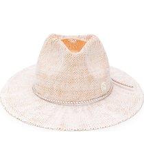 maison michel rico fedora hat - white