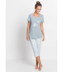 capri pyjama met korte mouwen (2-dlg.)