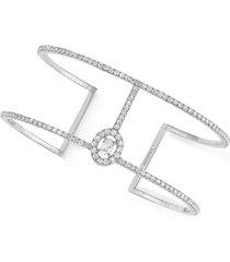 glam'azone 2 row pavé diamond bracelet
